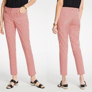 NWT Ann Taylor The Cotton Crop Pant In Red Gingham